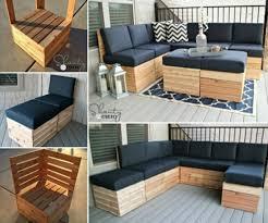 diy outdoor pallet sectional. Wonderful Diy 20 Outdoor Pallet Furniture DIY Ideas And Tutorials Modular Sectional  Corner Lounge For Diy O
