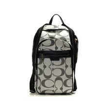 Coach Bleecker Monogram Medium Grey Backpacks DHL
