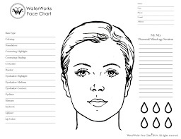 blank makeup face chart mac wallpaper blank face