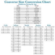 Converse Shoe Chart Converse Chucks Juniors Kids Size 3