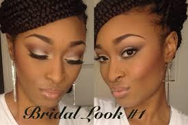dark skin tones bridal makeup series look 1 neutral with glowing skin
