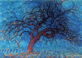 avond evening the red tree