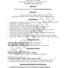 Physical Therapist Resume Template Astounding Physical Therapy Resume Therapist Sle Template Aide 17