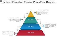 Ppt Pyramid 4 Level Escalation Pyramid Powerpoint Diagram Powerpoint