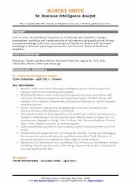 Business Intelligence Analyst Resume New Business Intelligence Analyst Resume Samples QwikResume
