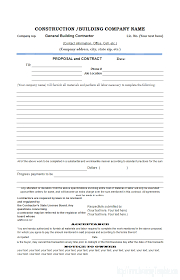 Construction Bid Form Independent Contractor Proposal Rome Fontanacountryinn Com