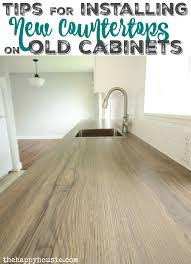 how to install new countertops on old cabinets