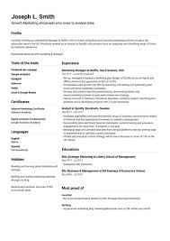 Free Resume Sample Free Cv Templates You Can Edit And Download Easily