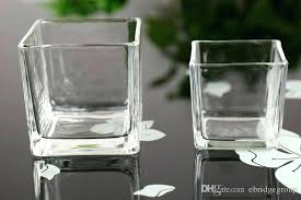 clear candle decoration spray color square glass jar vase containers from holders uk