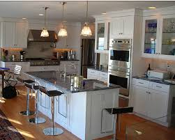 Kitchen, Pulchritudinous Three Lighting With Warm Feeling And Silver  Countertop Idea Kitchen Design Trends ~