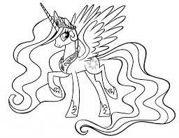 Tranh tô màu ngựa pony đẹp, dễ thương cho bé