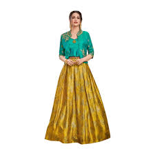 Designer Long Skirts Party Wear Images Designer Evening Cocktail Wear Satin Silk Jacket Style Crop