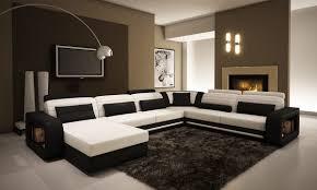 Contemporary sectional sofas Miami Divani Casa 1005c Contemporary Black And White Bonded Leather Sectional Sofa Dunk Bright Furniture Divani Casa 1005c Contemporary Black And White Bonded Leather