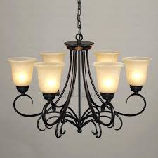 black wrought iron chandelier rustic 6 light glass shade twig black wrought iron chandelier black wrought