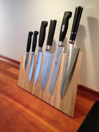 amazing butcher block magnetic hanging knife rack for contemporray kitchen decoration countertop knife holder ikea