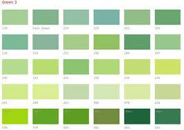 Kelly Green Color Chart Green Color Chart Green Color