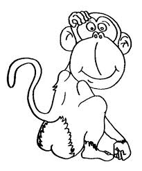 Small Picture Chimpanzee Coloring Page Top Chimpanzee Coloring Pages Monkey