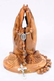 this catholic statue of praying hands and the rosary is a very unique catholic gift we suggest this statue for catholic confirmation gifts