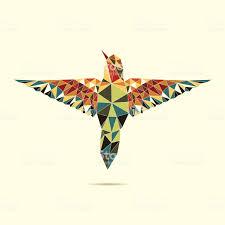 геометрические колибри абстрактный цвет стоковая векторная графика