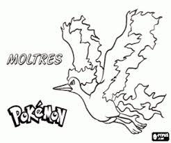 Kleurplaat Een Pokemon Legendarische Vogel Moltres Kleurplaten
