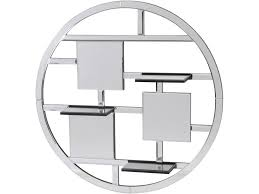 circo round wall mirror with shelves