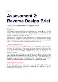 Engineering Design Brief Oeng1166 Ipep Assessment 2 Reverse Design Brief Omidullah