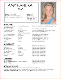Beginner Actor Resume Sample headshot resume examples beginning actor resume audition resume 22