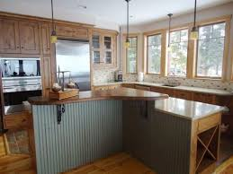 Wooden Kitchen Countertops Wooden Kitchen Counter Finish Unique Pendant Lamps Beige Granite