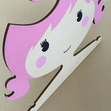 Baby Coat Rack Cartoon Princess Girls Wooden Children Clothes Hanger Lovely Wood 86