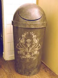 view in gallery regular trash can with stenciled designs