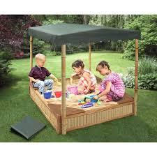 kidkraft sandbox with canopy reviews badger basket tropical fun bamboo and cover natural green