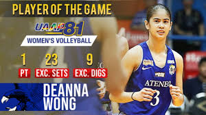 UAAP 81 WV: PoG Deanna Wong sends prayers to injured Molde | March 30, 2019  - YouTube