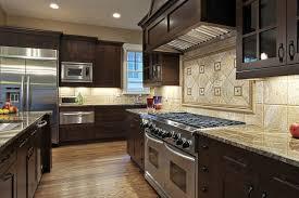 fantastic traditional home decor kitchen brown solid wood kitchen cabinet beige tile mural kitchen backsplash stainless