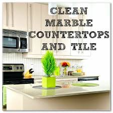 how clean marble countertops