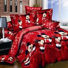 ซ อท ไหน mickey minnie bedding sets single double queen king cartoon duvet cover quilt cover pillowcase 3pcs pure cotton lovely