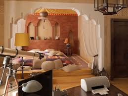 Moroccan Themed Bedroom And Workspace Decorating Ideas