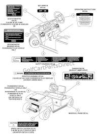 safety decals electric club car parts & accessories Ingersoll Rand Club Car Wiring Diagram safety decals electric Ingersoll Rand 185 Compressor Diagram