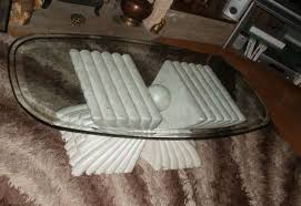 marble effect glass top coffee table