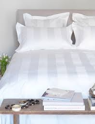 luxury 600 thread count white stripe duvet cover