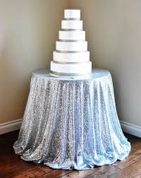 Table Cloth For Round Table Popular Silver Sequin Tablecloths Buy Cheap Silver Sequin