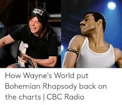 Rhapsody Charts Waynes Orld How Waynes World Put Bohemian Rhapsody Back On