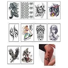 10 Tetovací Nálepky Ostatní Non Toxicmiminko Dítě Dámské Pánské