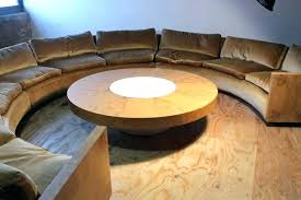 mid century curved sofa sectional in the style of custom furniture