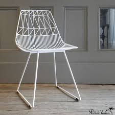white wire chair. Contemporary White White Wire Chair  Michele Varian To I