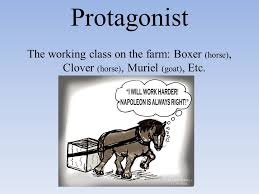 animal farm summary setting  farm in england  farm is taken over    protagonist the working class on the farm  boxer  horse   clover  horse
