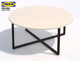 ikea rissna coffee table round royalty free 3d model preview no 1
