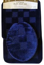 remarkable blue bathroom rugs at com 3 piece navy pattern rug mat contour lid home and