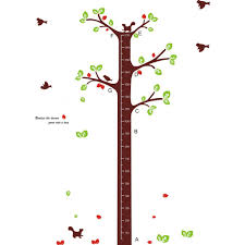tree growth chart wall sticker wall art decals vinyl wall stickers by wallstickerscool com au