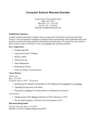 science resume examples getessay biz computer science resume example computer science resume example science resume