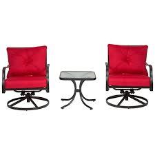 swivel rocking chair garden rocker red